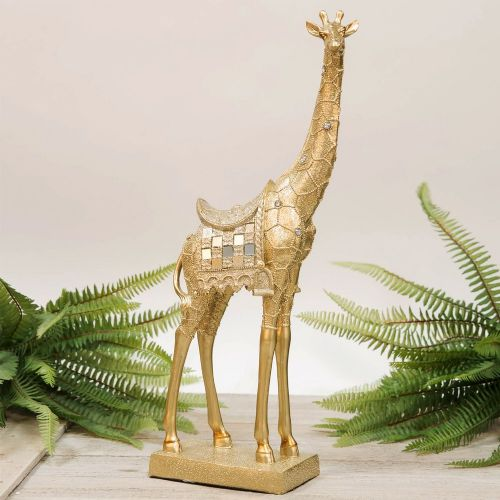 Golden Giraffe Figurine Home Decor Ornament